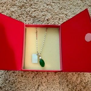 Jewelry - Necklace 18kt Gold plated Jade Myanmar Emerald